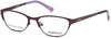 Skechers SE1624 Geometric Eyeglasses 070-070 - Matte Bordeaux