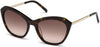 Swarovski SK0143 Cat Sunglasses 52F-52F - Dark Havana / Gradient Brown Lenses