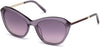 Swarovski SK0143 Cat Sunglasses 81Z-81Z - Shiny Violet / Gradient Or Mirror Violet Lenses