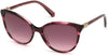 Swarovski SK0147 Cat Sunglasses 69T-69T - Shiny Bordeaux / Gradient Bordeaux Lenses