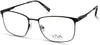 Viva VV4043 Rectangular Eyeglasses 002-002 - Matte Black