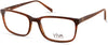 Viva VV4044 Rectangular Eyeglasses 045-045 - Shiny Light Brown