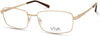 Viva VV4045 Rectangular Eyeglasses 032-032 - Pale Gold