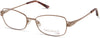 Viva VV8013 Rectangular Eyeglasses 010-010 - Shiny Light Nickeltin