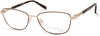Viva VV8014 Rectangular Eyeglasses 028-028 - Shiny Rose Gold