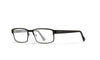 WILEY X WX Fusion Eyeglasses  Matte Black with Gunmetal Temples 53-14-140