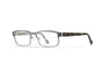 WILEY X WX Fusion Eyeglasses  Silver with Black Demi Temples 53-14-140