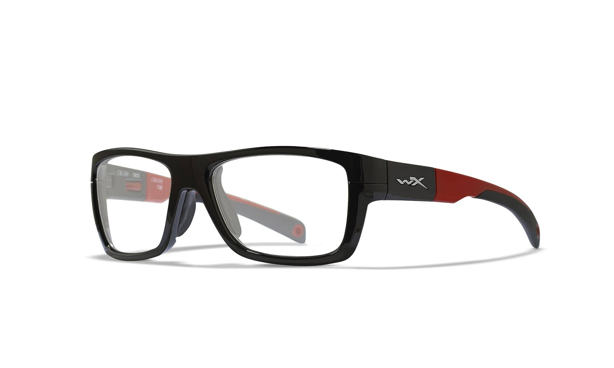 WILEY X WX Crush Sunglasses  Gloss Black and Red 52-18-130