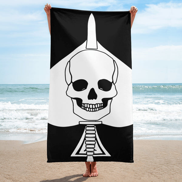 Death Card Beach Towel Towel - Raise the Black