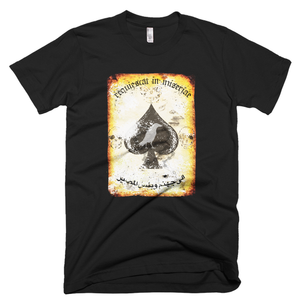 "Raise The Black / Misery Incorporated  Joint ""Rest In Misery"" Death Card T-Shirt Short-Sleeve T-Shirt"