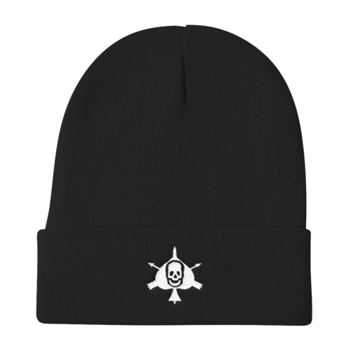Death Card Knit Beanie - Raise the Black