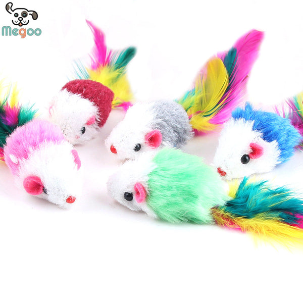 10 Pcs/Lot Soft Fleece False Mouse Toy