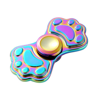 1pcs Colorful Cat Footprints Finger Tri Spinners Zinc Fidget New beyblade Figit Handspiner Hand Spinner Relieve Stress gyro Toys