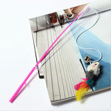 Wire Feather Teaser Mouse Cat Toy