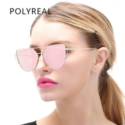 POLYREAL Women Cat Eye Sunglasses