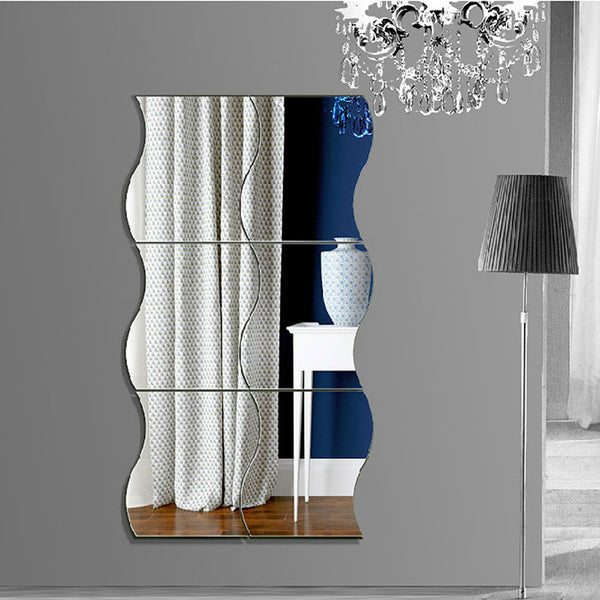 New Wave stereoscopic mirror wall sticker