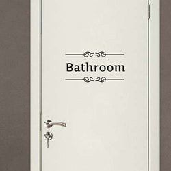Creative Bathroom & Toilet Door Decorative Stickers
