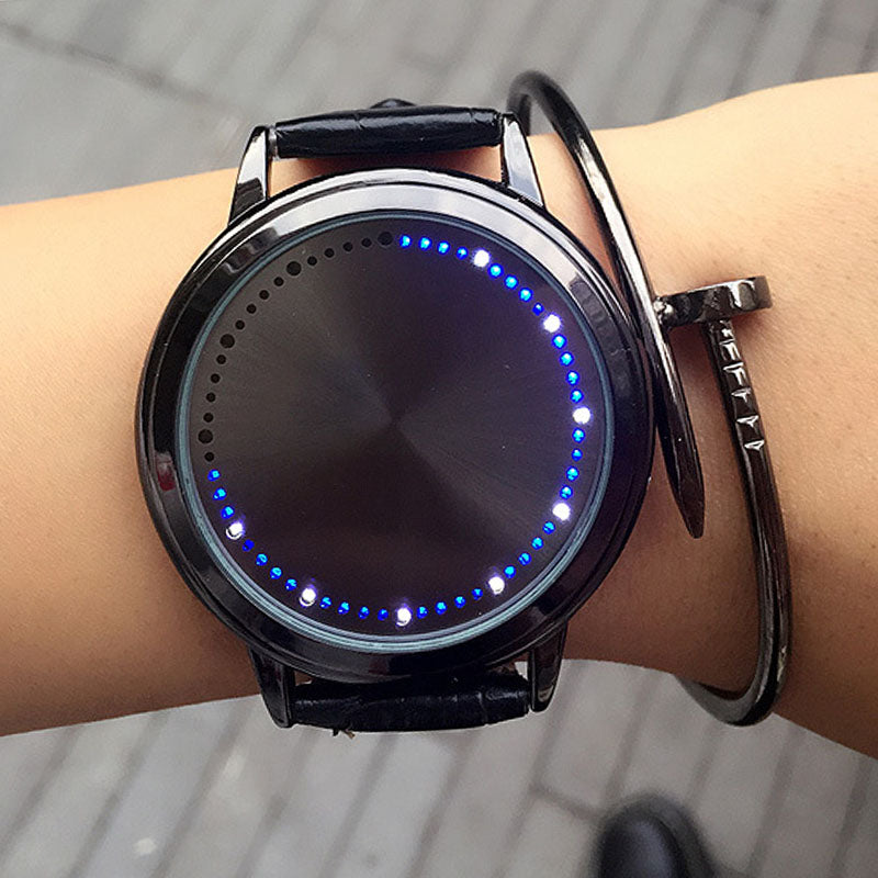 touch led watch instructions