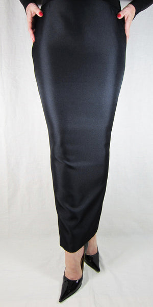Hobble Skirt Ankle Length - Suiting Twill