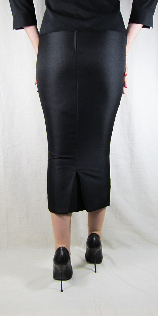 Hobble Skirt Calf Length with Kickpleat - Suiting Twill