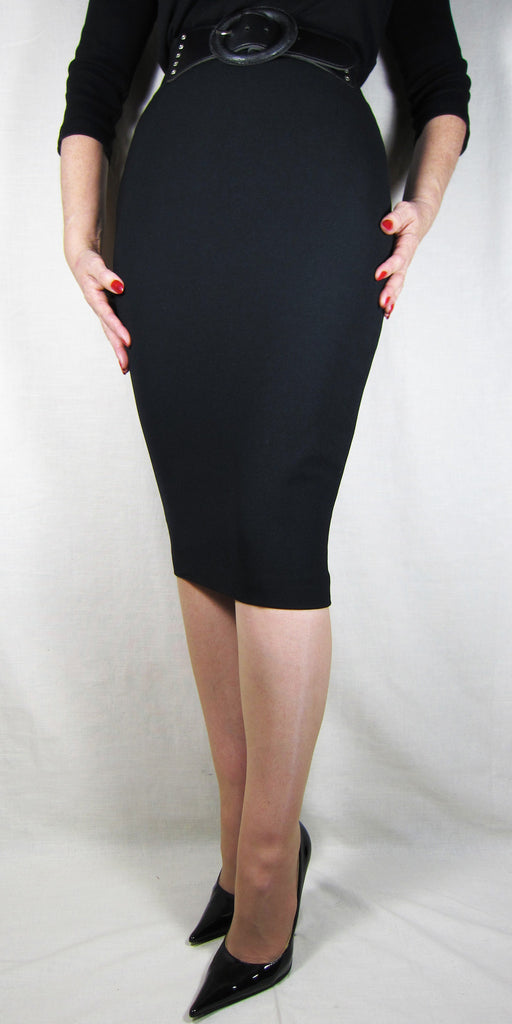 Hobble Skirt Knee Length - Crepe
