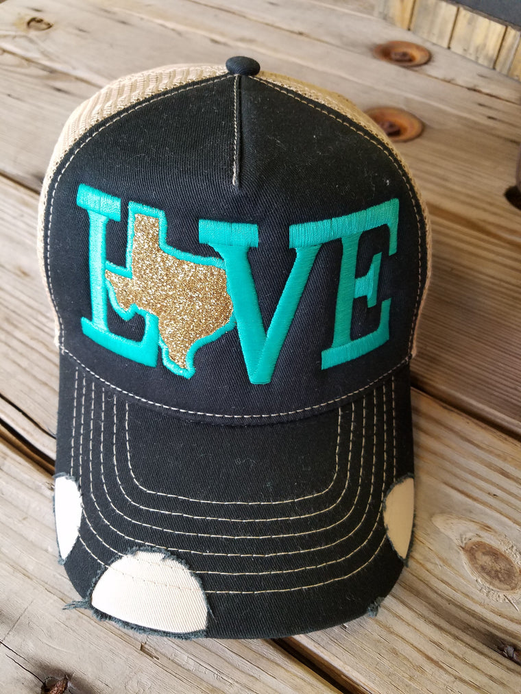 Love w/ Glitter Texas Hat