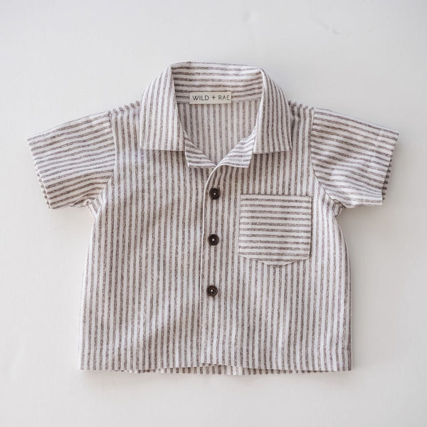 Boy's Striped Button Up