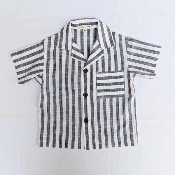 Boy's wide Striped Button Up
