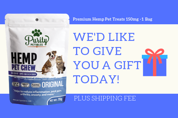 Purity Petibles Gift Card - Premium Hemp Pet Treats 150mg (1 Bag)