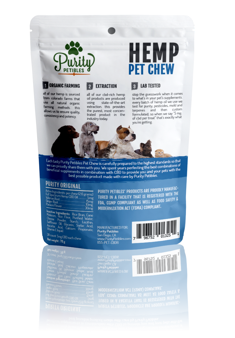 Hemp Pet Treats 150mg (6 PCS)