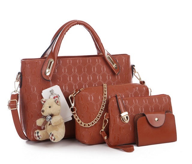 4 pieces Cowhide Leather Bags