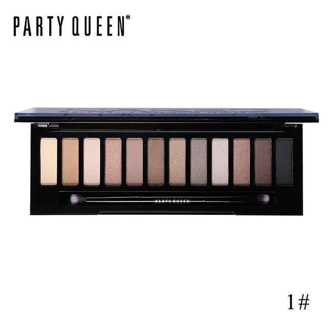 12 Color Naked Smoky Eyeshadow Palette by Party Queen