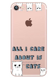 'Cat-World' Iphone Case--Fits 6, 6s, 6sPlus, 7, 7Plus; 8, 8Plus