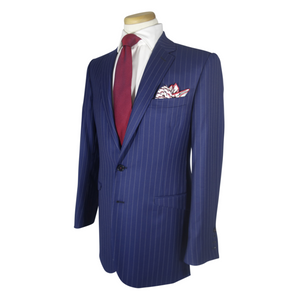 Blue Pinstripe Three Piece Suit - duncanquinn