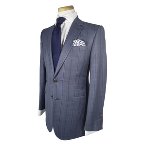 Blue Plaid Bond Suit - duncanquinn