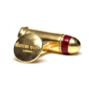 Brass Bullets Cufflinks | Red - duncanquinn