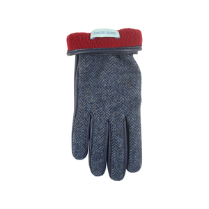 Herringbone Gloves | Navy - duncanquinn
