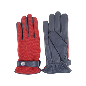 Herringbone Gloves | Red - duncanquinn