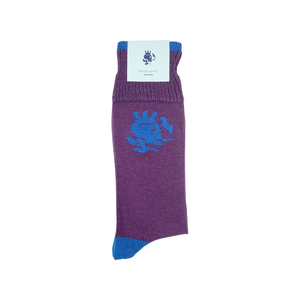 Solid Smoking Skull Socks | Purple - duncanquinn