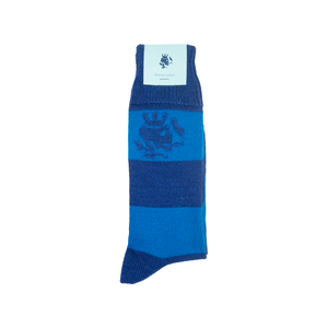 Striped Smoking Skull Socks - Midnight - duncanquinn