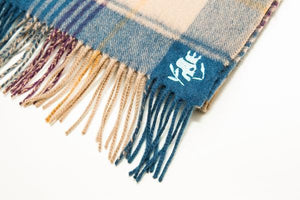 Wool Scarf | Fence Check Blue - duncanquinn