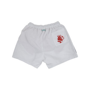 Solid Swim Trunks | White - duncanquinn