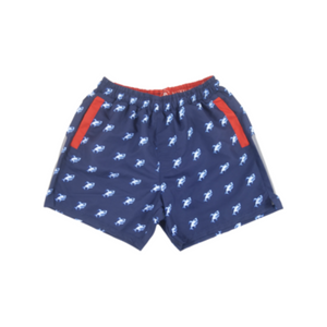 Robot Shark Swim Trunks | Navy - duncanquinn