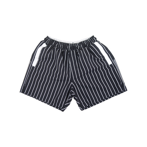 Stripe Swim Trunks | Black - duncanquinn