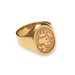 The Smoking Skull Signet Ring 22K Gold - duncanquinn