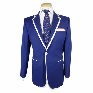 Gabardine Boating Jacket Blue - duncanquinn