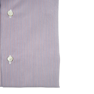Lightweight Linen/Cotton Dress Shirt | Red - duncanquinn