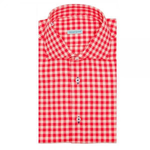 The Gingham Dress Shirt | Red - duncanquinn