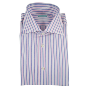 The Striped Dress Shirt | Pink/Blue - duncanquinn