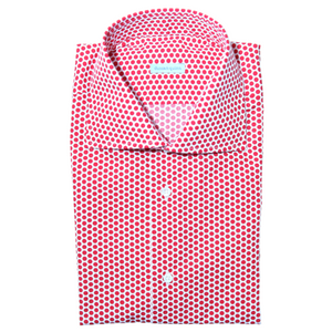 The Polka Dot Dress Shirt | Red - duncanquinn